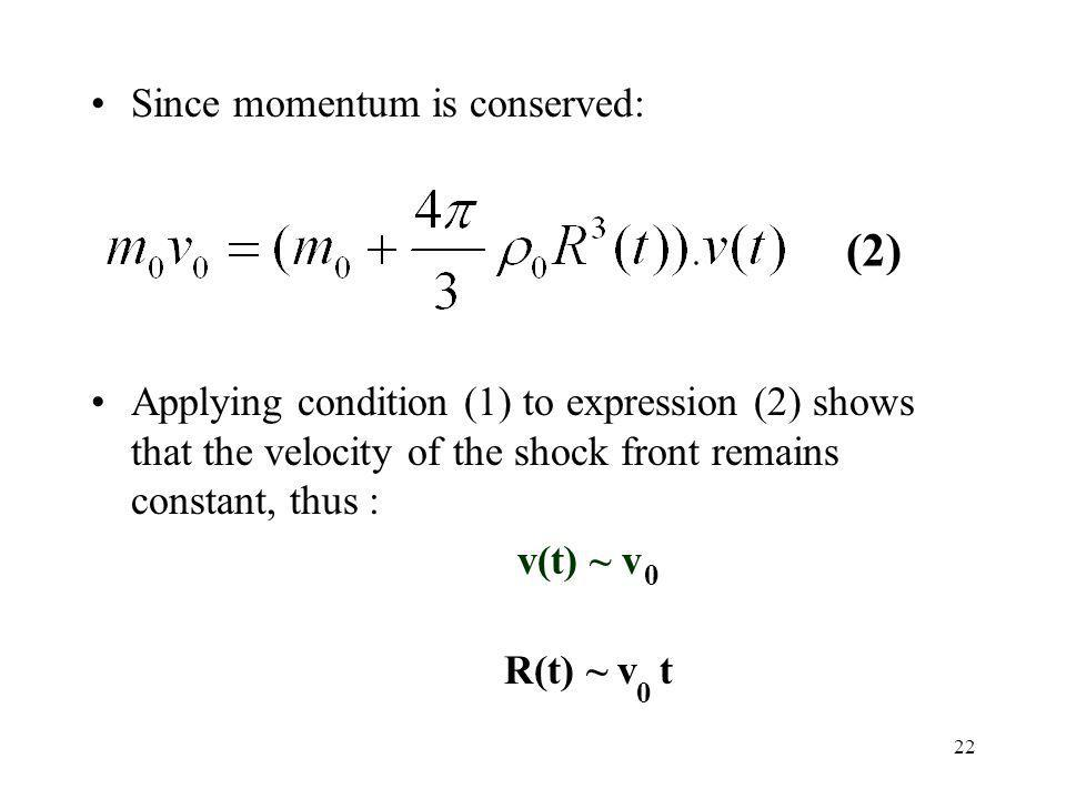 (2) Since momentum is conserved: