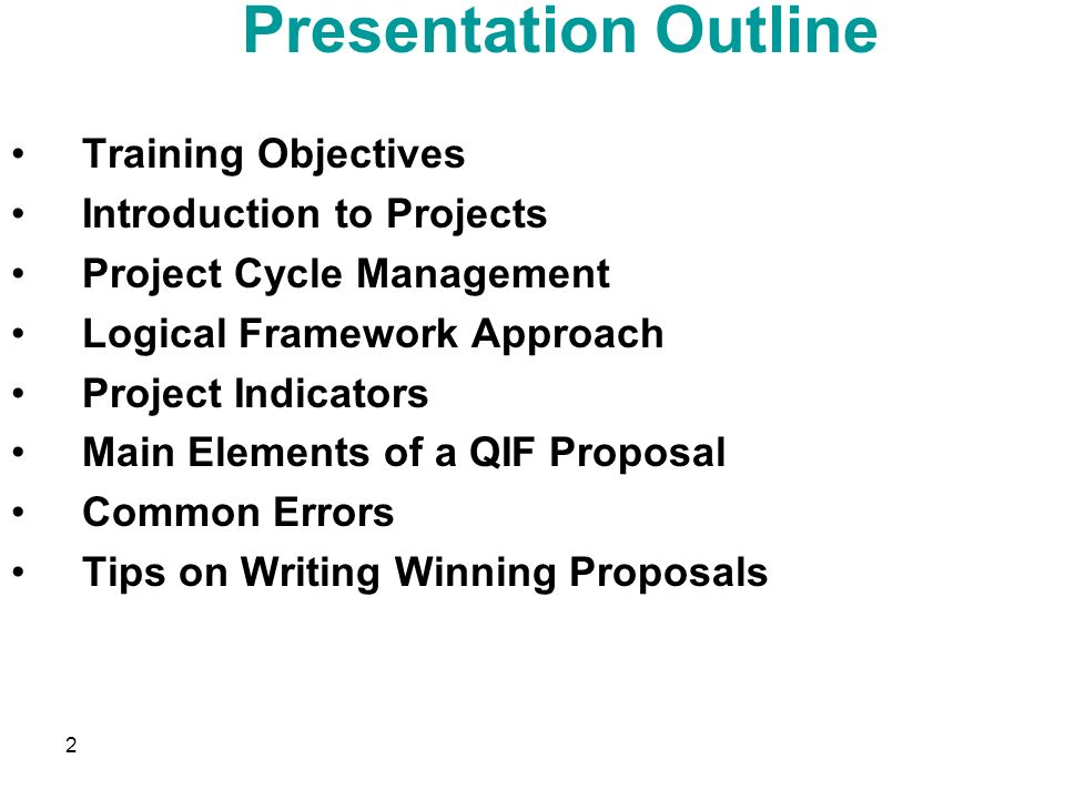 project proposal presentation