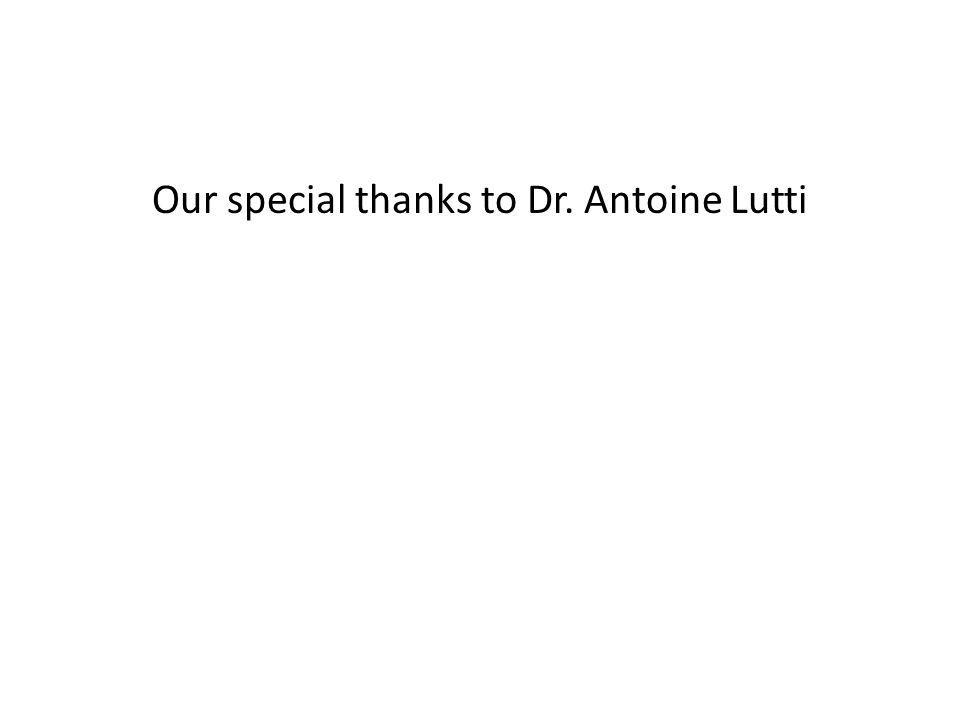 Our special thanks to Dr. Antoine Lutti
