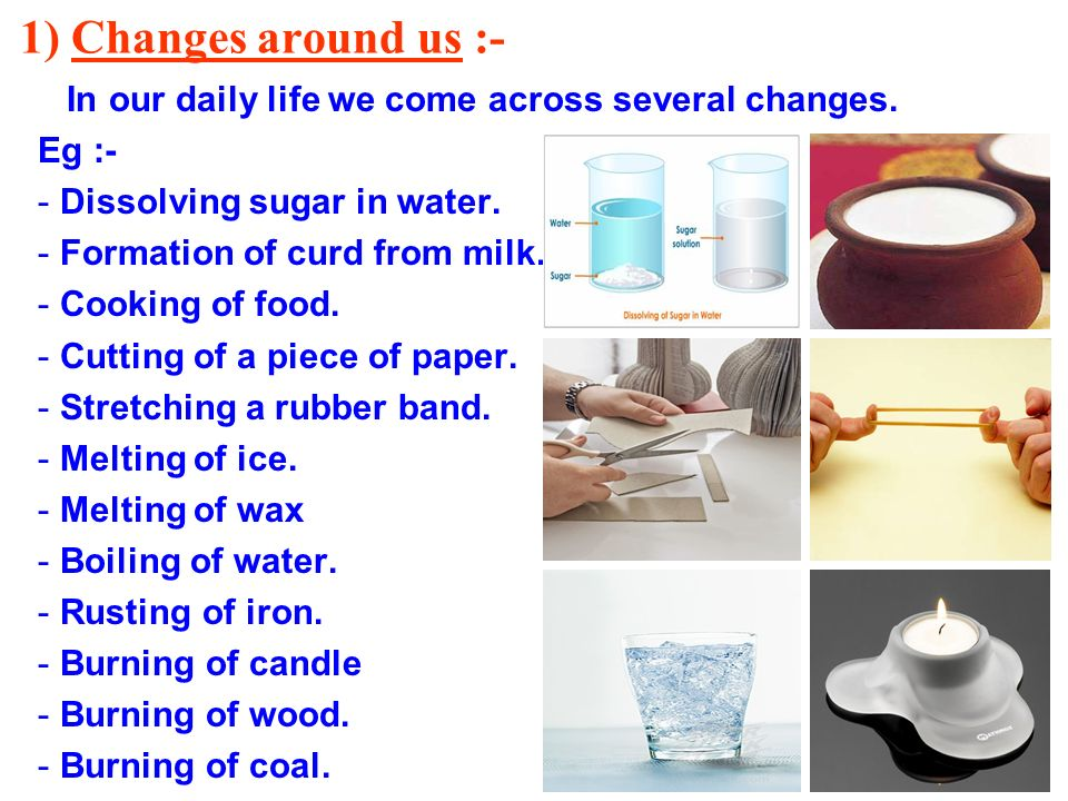 Several Examples Of Physical Changes Properties
