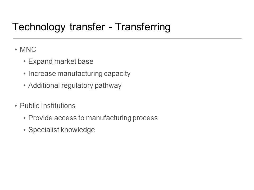 Technology transfer - Transferring