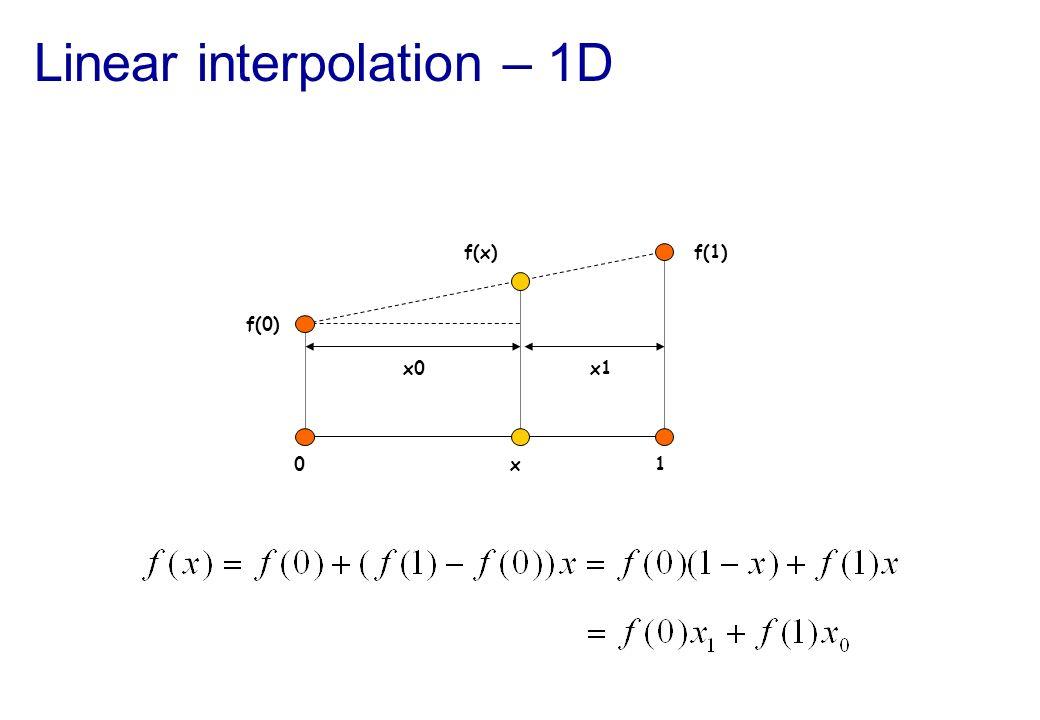 Linear interpolation – 1D
