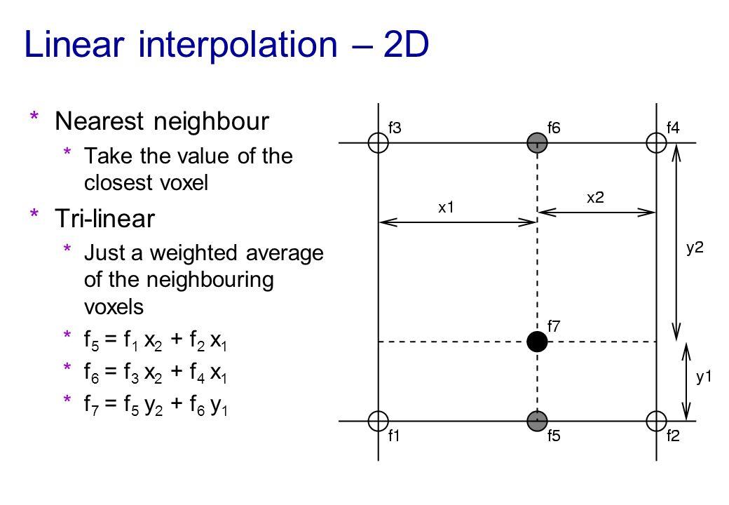 Linear interpolation – 2D