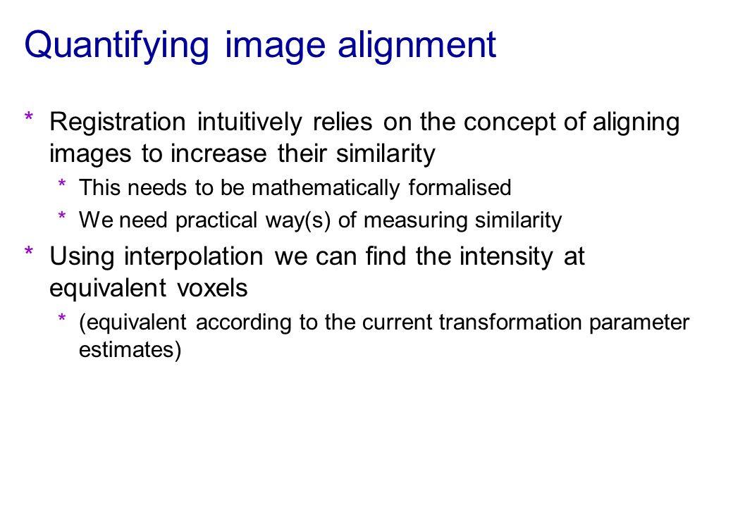 Quantifying image alignment