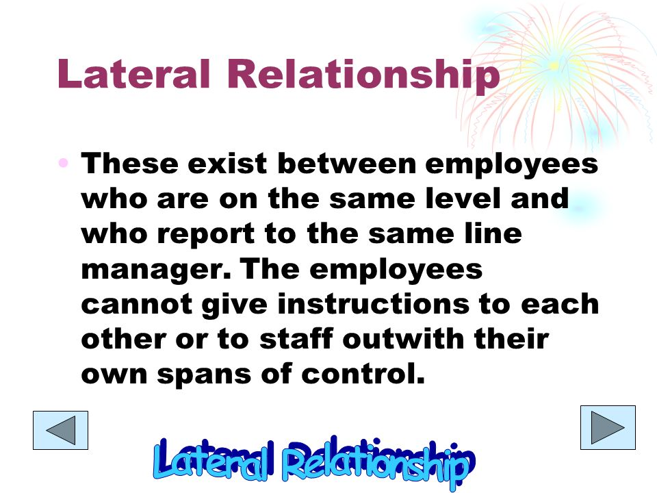 what is a lateral relationship in business