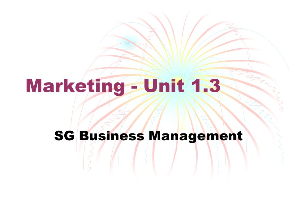 Unit 1 Business Administration