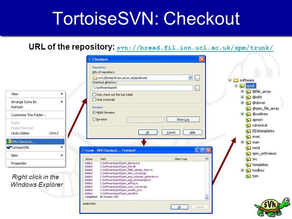 TortoiseSVN: Checkout