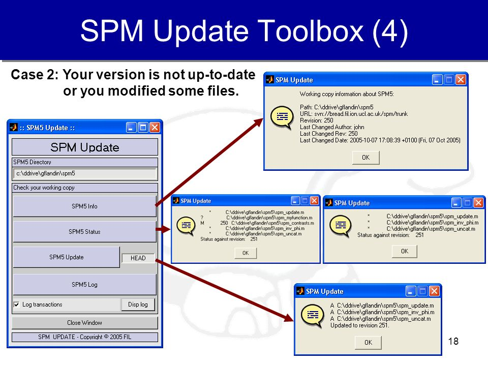 SPM Update Toolbox (4) Case 2: Your version is not up-to-date