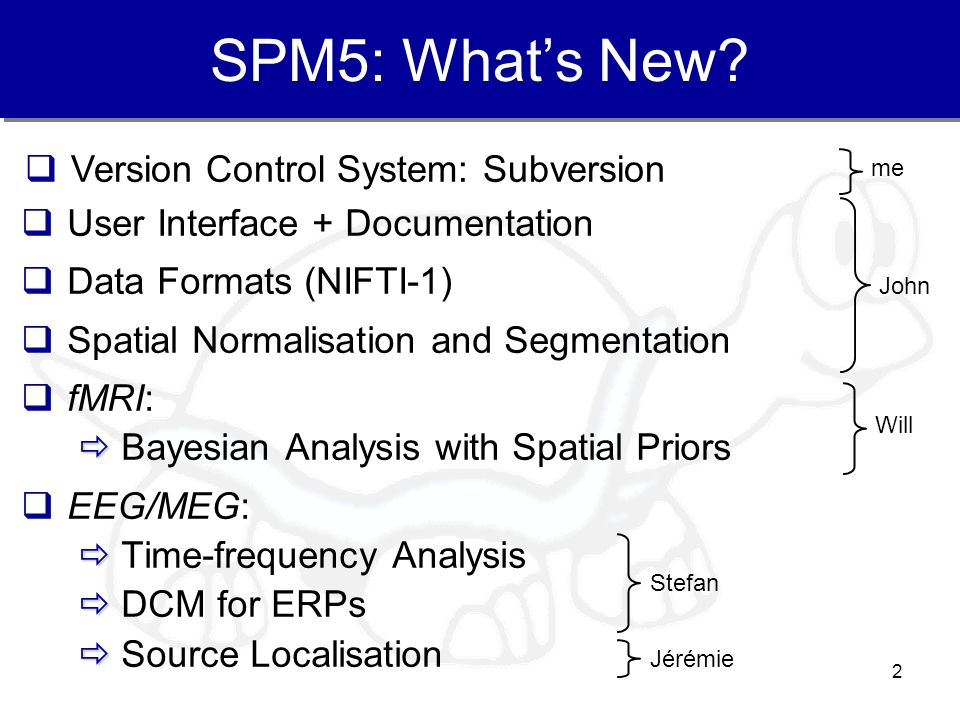 SPM5: What's New Version Control System: Subversion