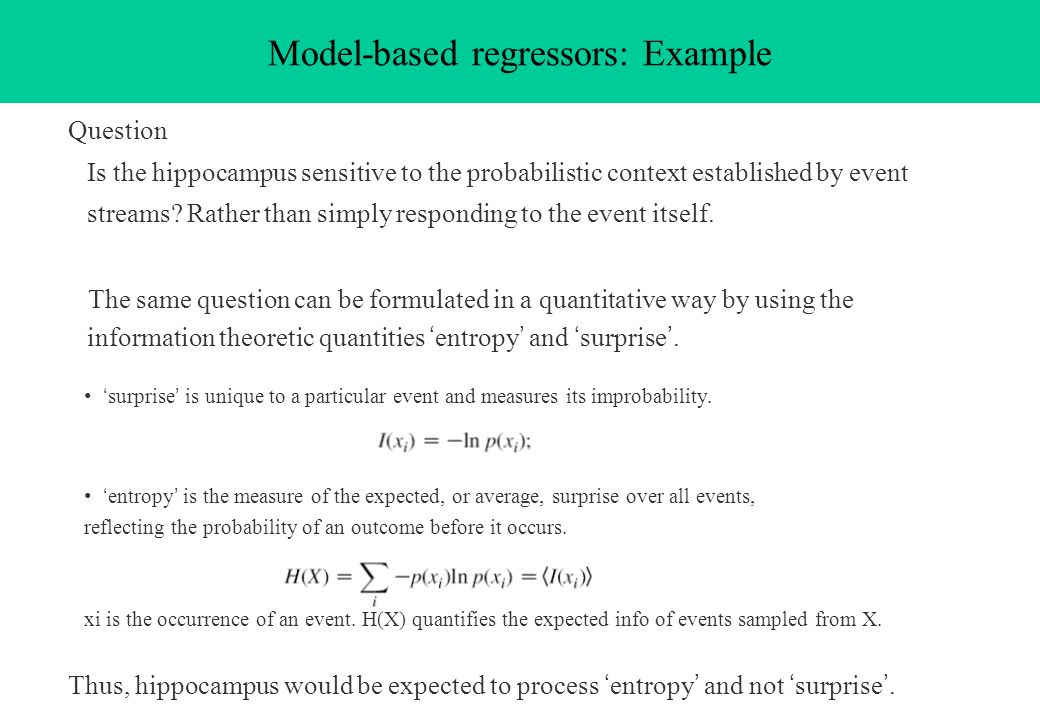 Model-based regressors: Example
