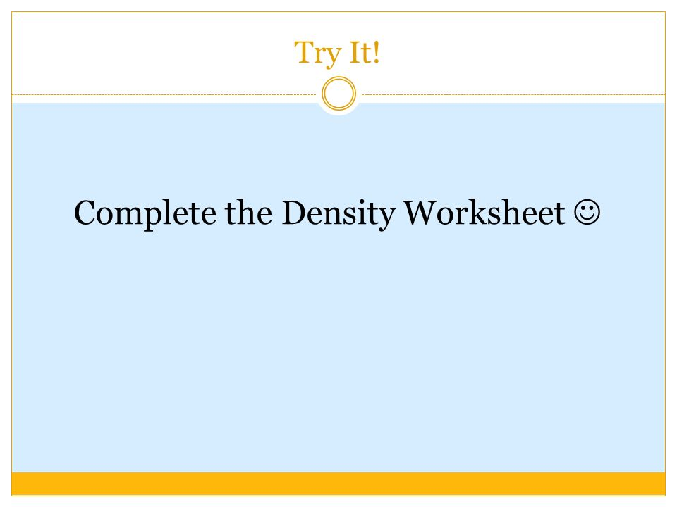 DENSITY Grade 8 Science ppt download – Density Calculations Worksheet