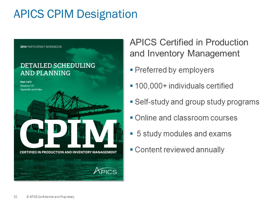 How to Prepare for the CPIM Exams - APICS