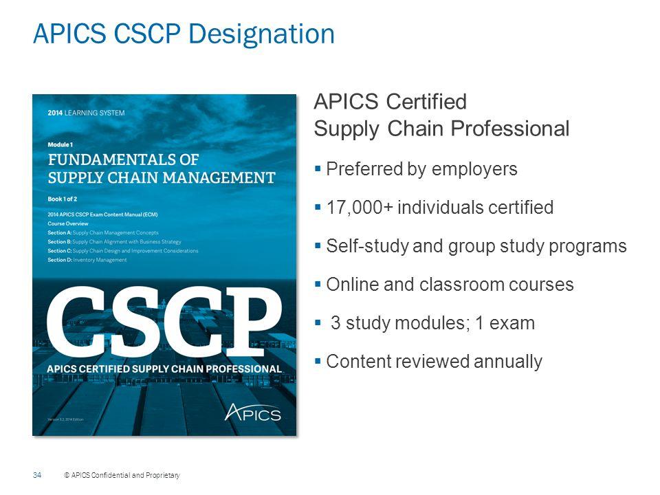 Certified Supply Chain Professional (CSCP) - apics-anaheim.com