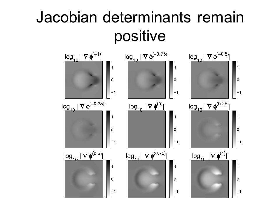 Jacobian determinants remain positive