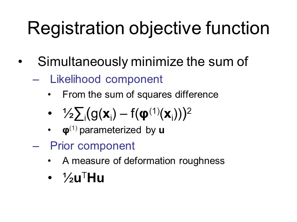 Registration objective function