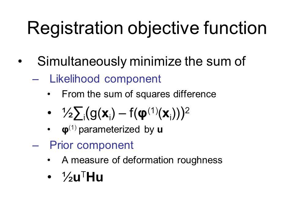 Registration objective function