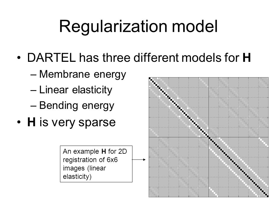 Regularization model DARTEL has three different models for H