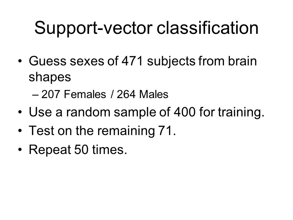 Support-vector classification