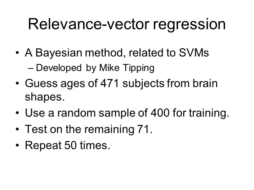Relevance-vector regression