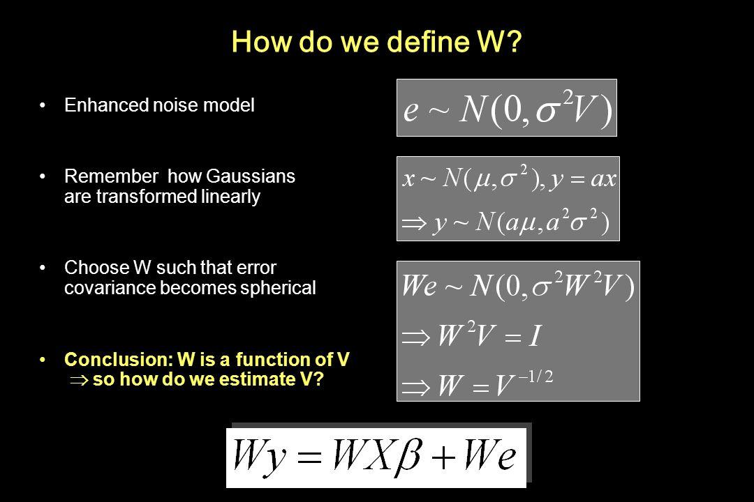 How do we define W Enhanced noise model