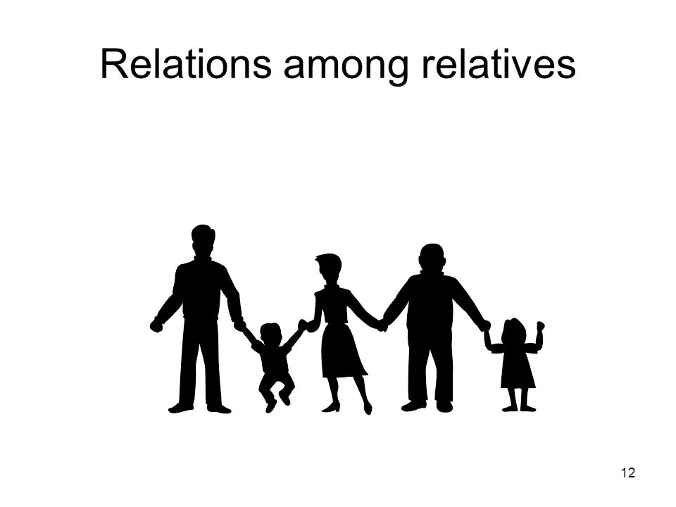 Relations among relatives