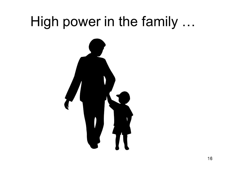 High power in the family …