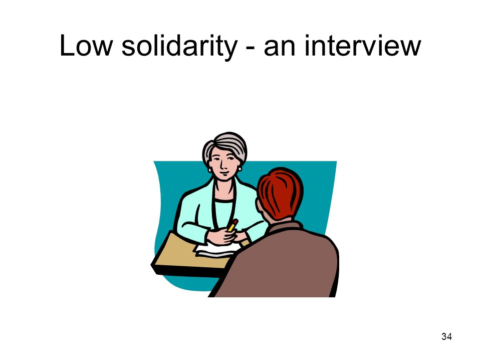 Low solidarity - an interview