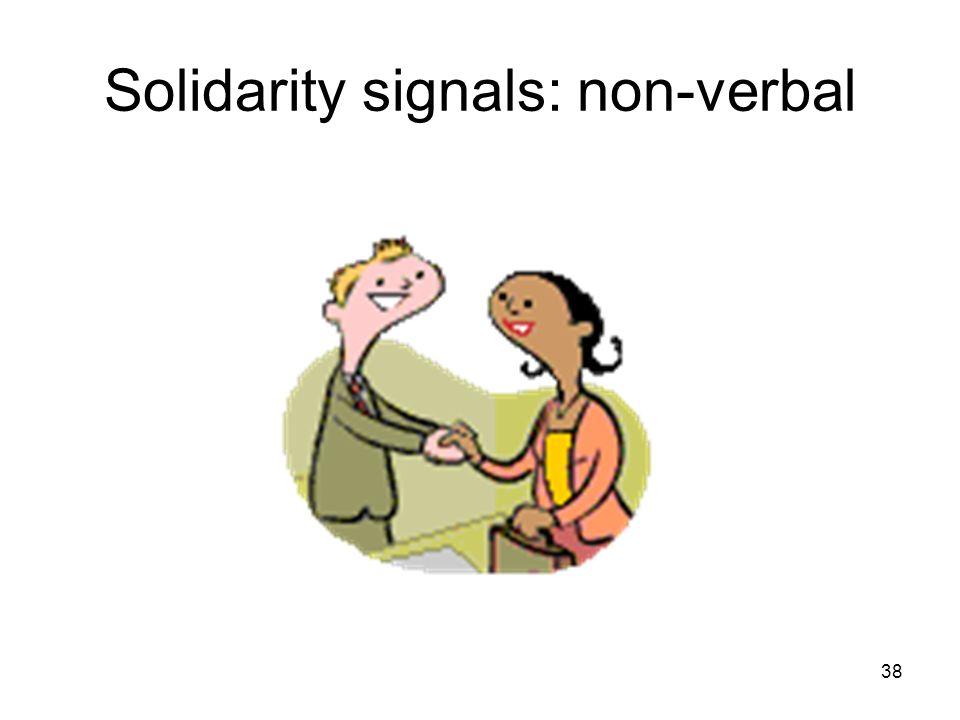 Solidarity signals: non-verbal