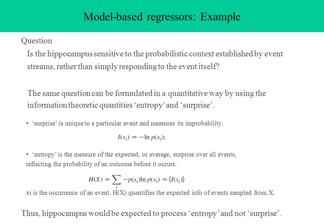 Model-based regressors: Example