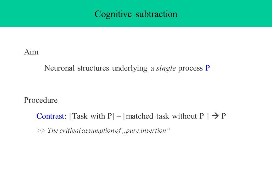 Cognitive subtraction