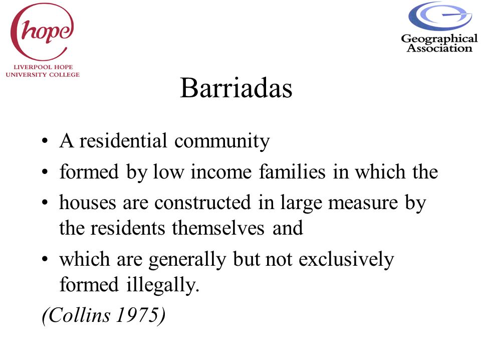 Barriadas A residential community