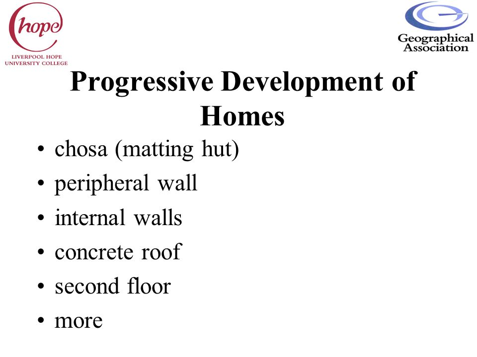 Progressive Development of Homes