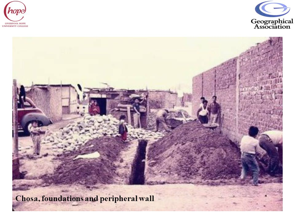 Chosa, foundations and peripheral wall