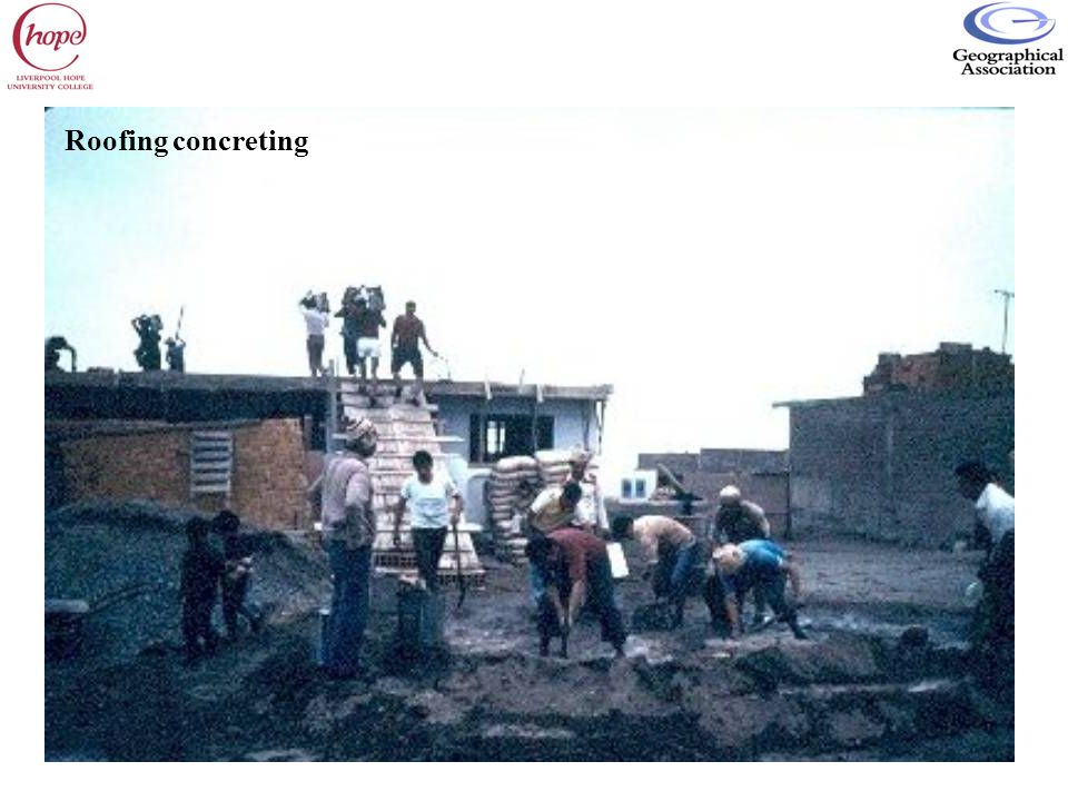 Roofing concreting