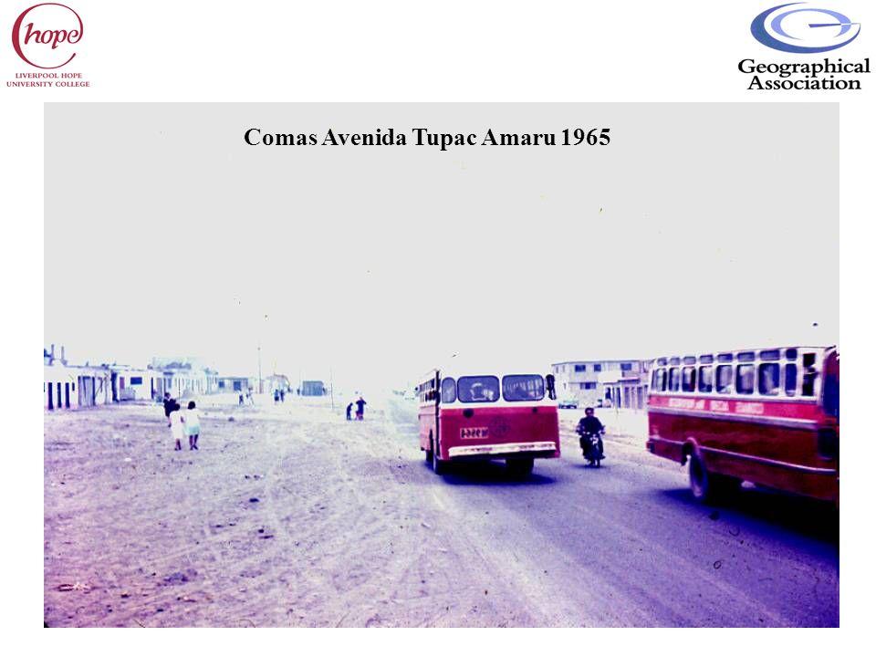 Comas Avenida Tupac Amaru 1965