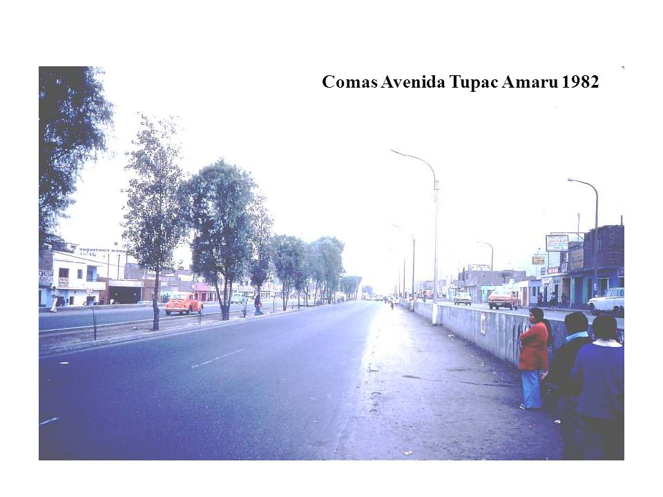Comas Avenida Tupac Amaru 1982