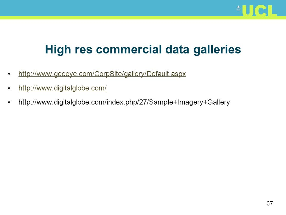 High res commercial data galleries