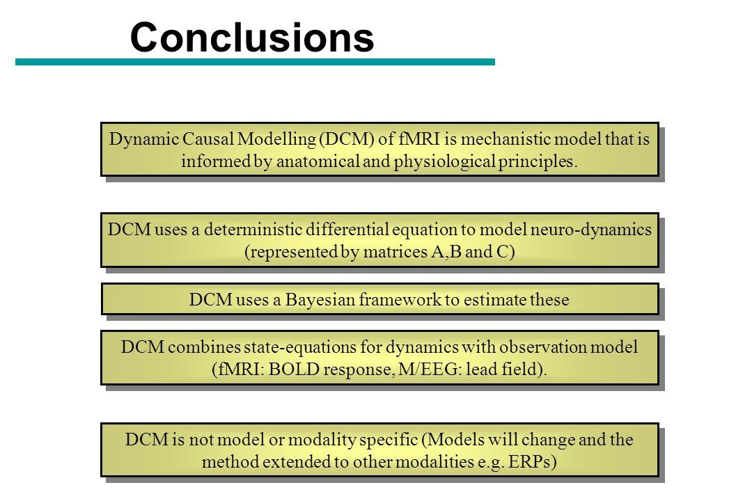 DCM uses a Bayesian framework to estimate these