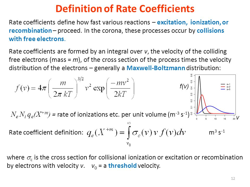 Definition of Rate Coefficients