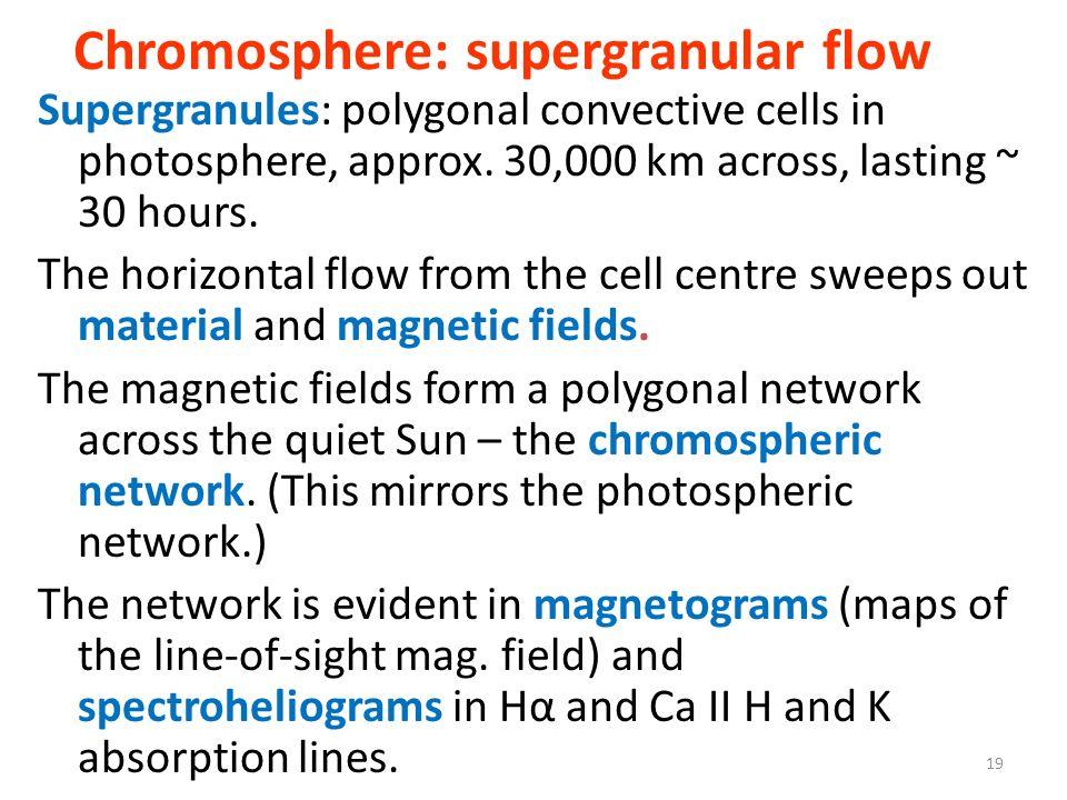 Chromosphere: supergranular flow