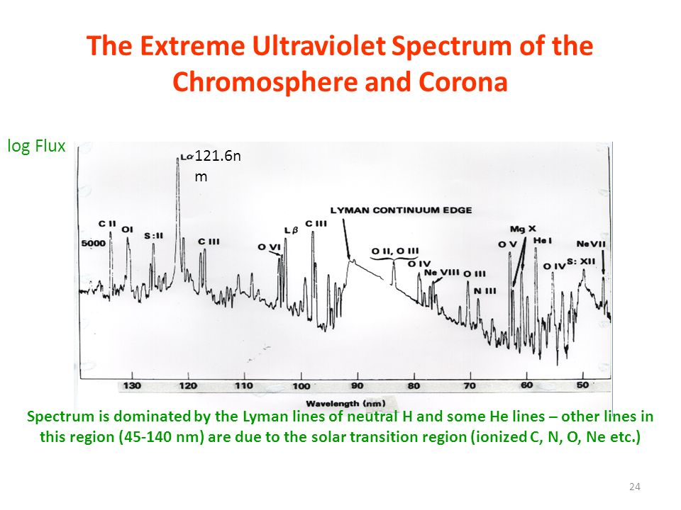 The Extreme Ultraviolet Spectrum of the Chromosphere and Corona