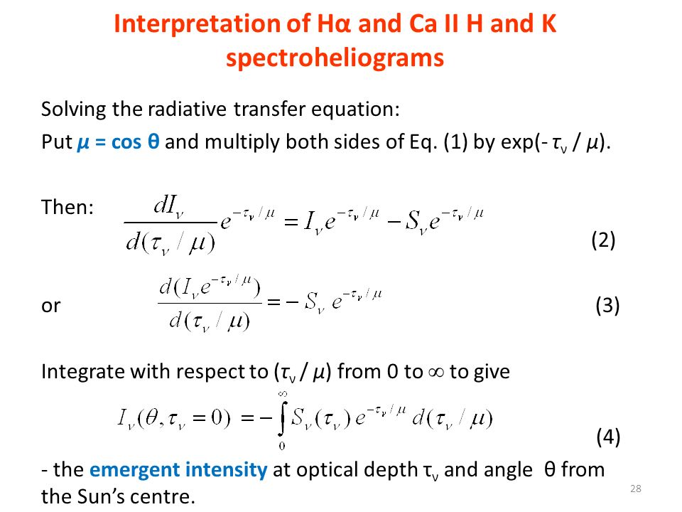 Interpretation of Hα and Ca II H and K spectroheliograms