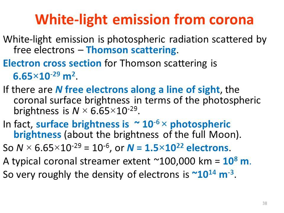 White-light emission from corona