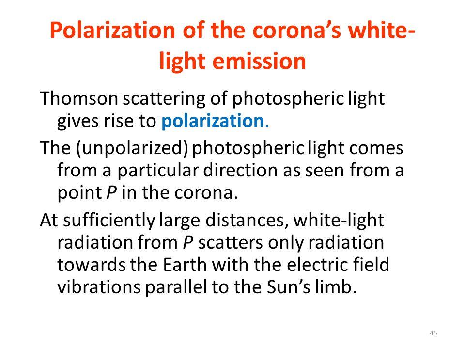 Polarization of the corona's white-light emission