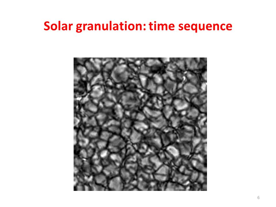 Solar granulation: time sequence