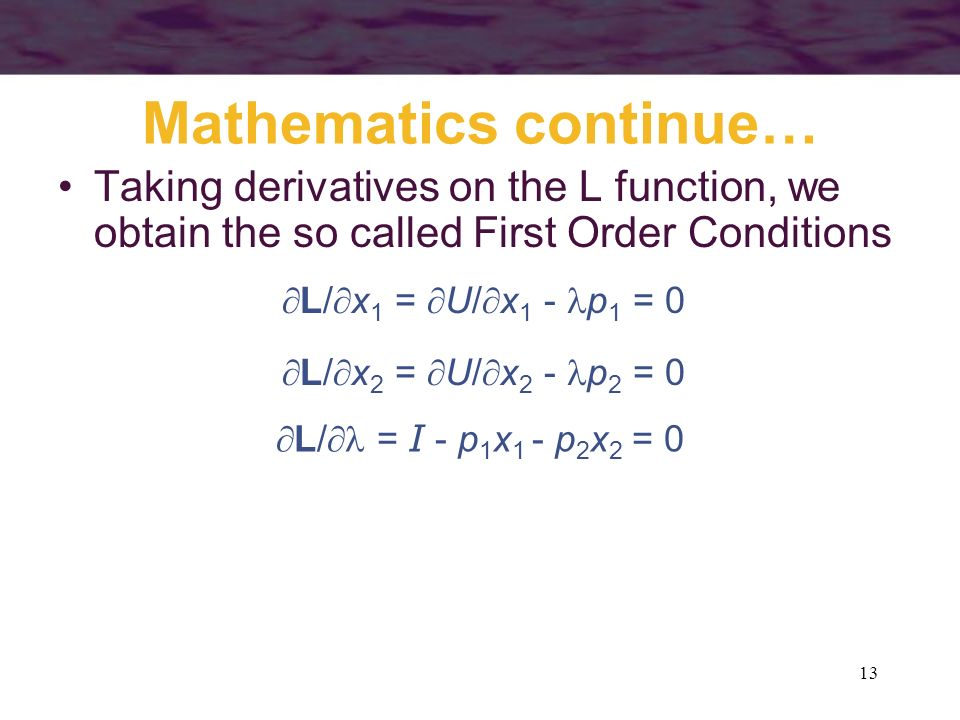 Mathematics continue…