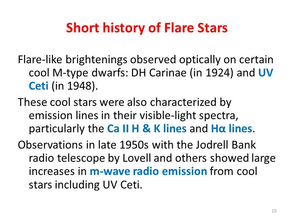 Short history of Flare Stars