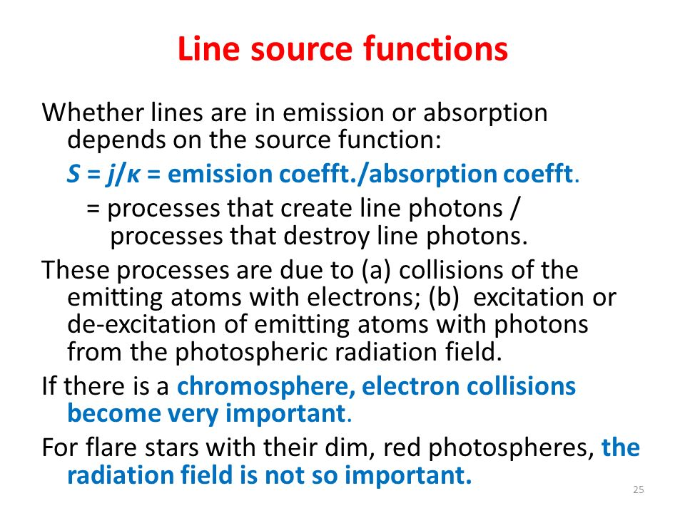 Line source functions