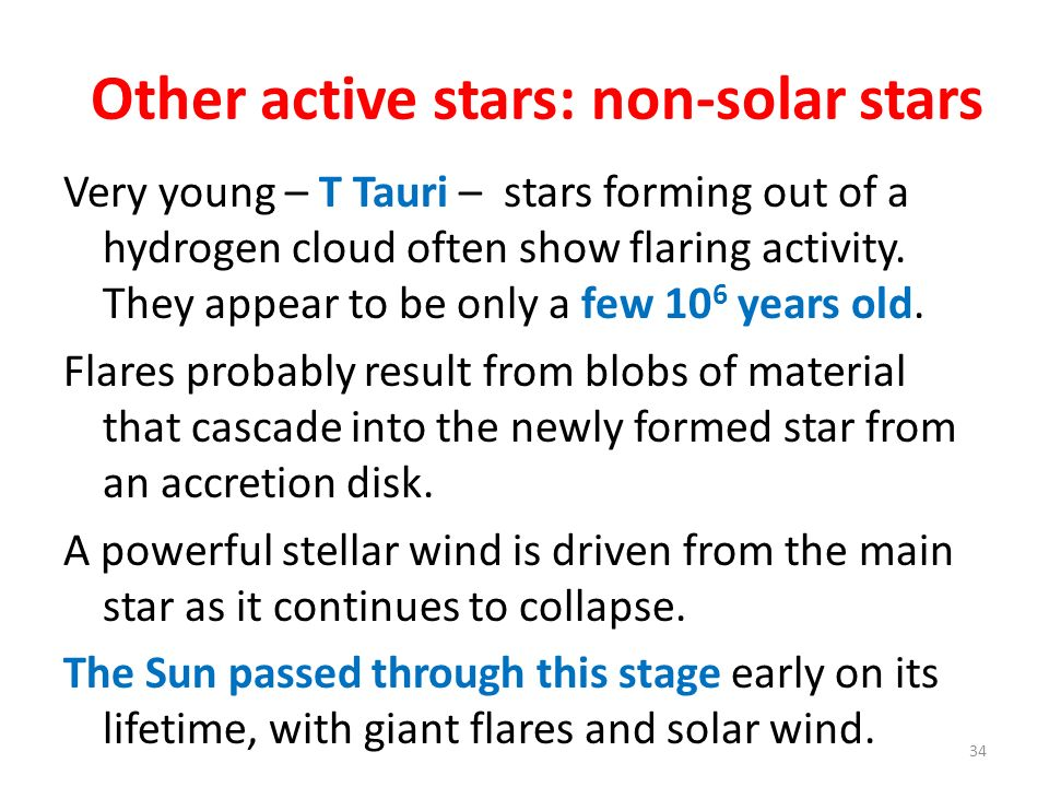 Other active stars: non-solar stars