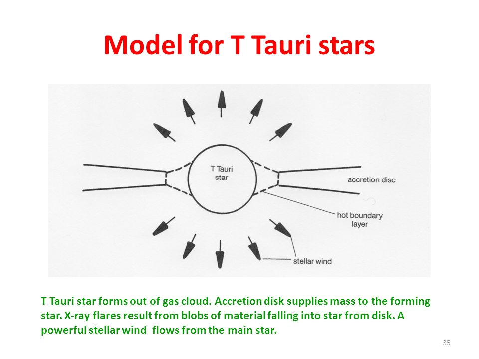 Model for T Tauri stars
